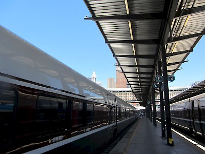 Talgo train at King Street Station, Seattle